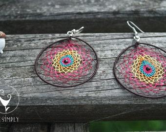 Dreamcatcher Earrings/ Handmade 100% / Boho Style