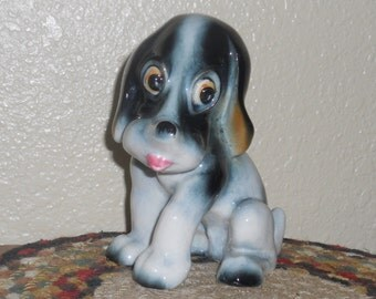 Occupied Japan Dog Figurine - Hound Dog - 1940's - Adorable - Collectible Figurine - Cute Puppy