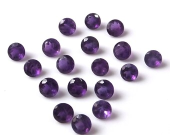 25 pieces 3mm Amethyst Faceted Round loose gemstone Top quality natural Amethyst round faceted gemstone wholesale lot Faceted Amethyst