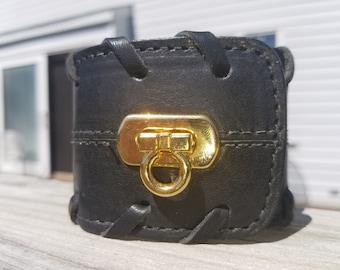 Black Leather Cuff