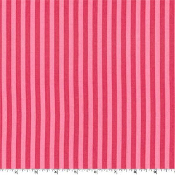 Pink Stripe Fabric - Michael Miller Clown Stripe Fabric - Dark Pink and Medium Pink Fabric