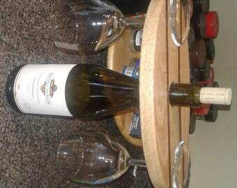 Wine Caddy - Oak and Walnut or Ash and Walnut
