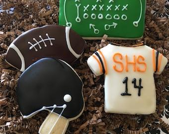Football Cookies - One Dozen Cookies