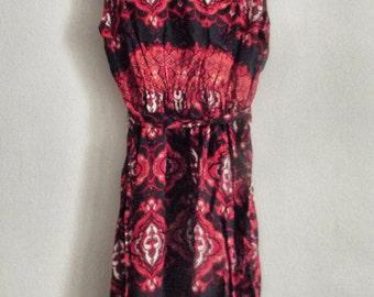 Vintage Inspired Ethnic Print Dress