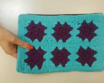 Granny Knitted Square Clutch