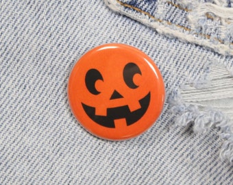 Jack O Lantern 1.25 Inch Pin Back Button Badge