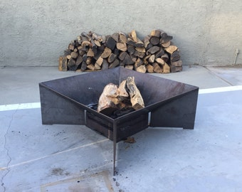 "The Jet Fire Pit 36"" w/Burnbox , Outdoor pit USA, Camp fire, Free Shipping"