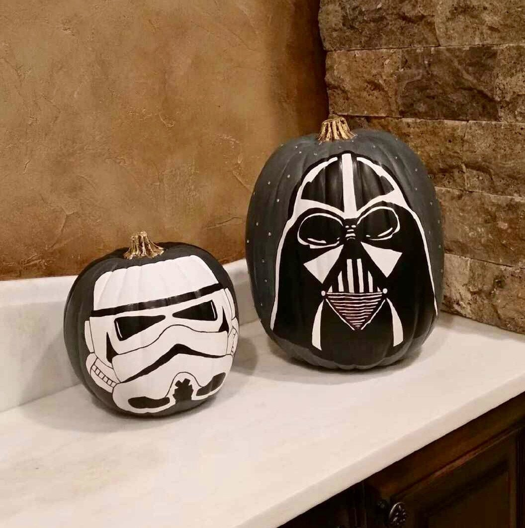 star wars painted pumpkins by mydecopaint on etsy. Black Bedroom Furniture Sets. Home Design Ideas