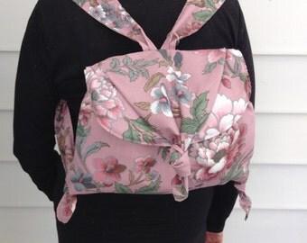 Soft Floral Backpack Purse / Handbag/Fabric Bag/Tote