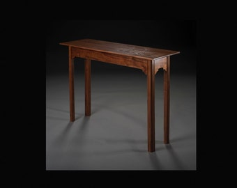 Console Table (Sofa Table) In Solid Black Walnut