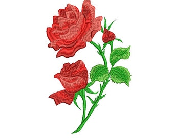 Rose Embroidery design. Flower embroidery.  Flower. Machine embroidery design. Decoration Flower. Embroidery for women. Rose design.