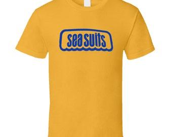 Vintage Surf T-shirt Sea Suits Westsuits Logo 1967