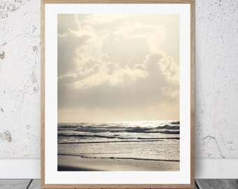 Beach Sunrise Photo, Coastal Art, Digital Download, Waves, Ocean