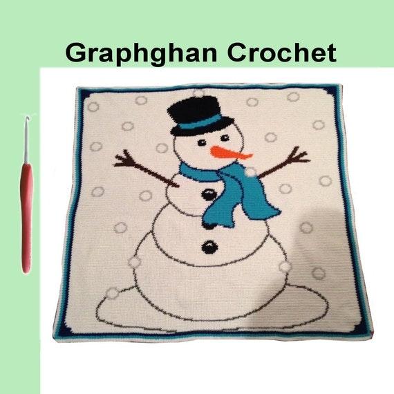 Hurray I'm Made, - Snowman Graphghan Crochet Chart