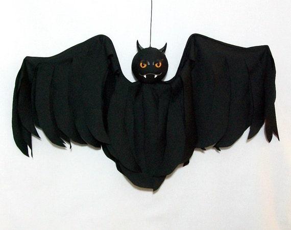 Outdoor Halloween Decoration Hanging Bat Flyer Yard Art