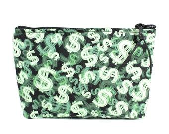 "7"" Money Pouch Makeup Cosmetic Bag"