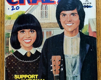 Crazy Magazine Donnie and Marie Osmond August 1977 No. 28 Issue