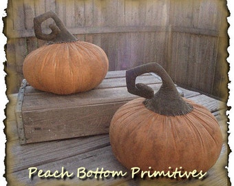 MAILED PAPER PATTERN~Primitive Enchanted Pumpkin, Fall Halloween Sewing Pattern
