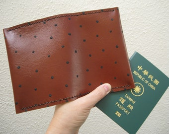 Passport Cover, leather, hand stitched, passport wallet, brown genuine leather, travel