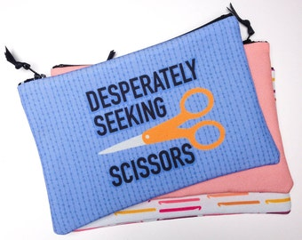 Zipper Bag, Desperately Seeking Scissors, tool bag, notions bag
