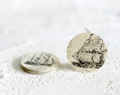 Illustrated Stickers, Envelope Seals, Tall Ship Images, Nautical Stickers