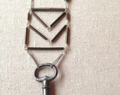 Chevron and Key Necklace
