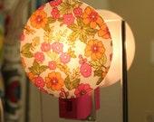Pink and Orange Flowers Nightlight