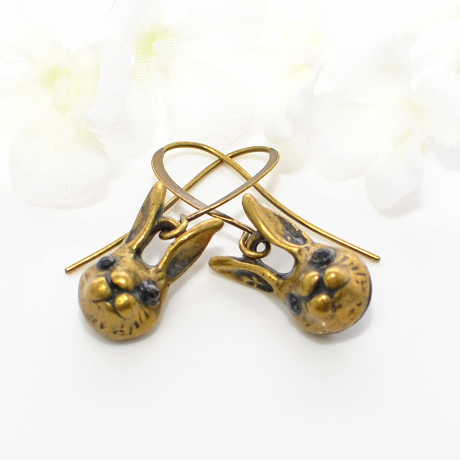 bunny earrings rabbit earrings the dynamic bunny duo bunny rabbit jewelry 3903