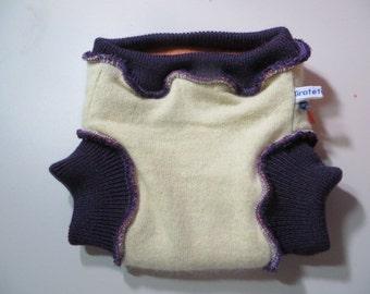 Grateful Buns 3-Layer Wool Soaker Diaper Cover Small Newborn to 12 lbs SS242B16(2.8)