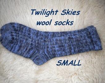 Twilight Skies socks --- wool socks ---  SMALL