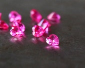 Ruby CZ Loose Cubic Zirconia Faceted Gem Pink Heart Stonesetting 4mm 10 pieces