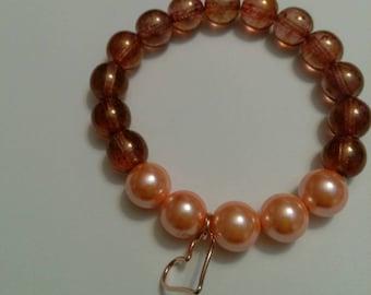 Rose gold variations beaded bracelet