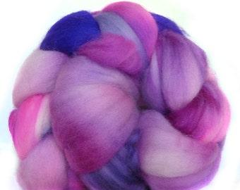 SUPERWASH MERINO roving top handdyed wool spinning fiber 3.5 oz
