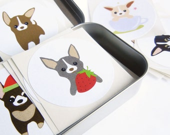 Chihuahua Stickers - Set of 100 Chee-S the Chihuahua Puppy Stickers Mix Designs