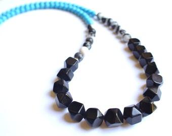 The St Maarten- Jasper, Howlite and Jade Long Necklace