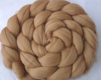 CAFE LATTE, merino wool roving, spinning fiber, wet/needle felting fiber, unspun merino wool, 20 micron, dreads, dolls hair, 100g, 3.5oz