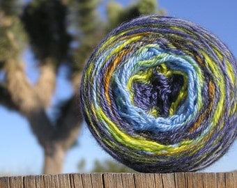 Fingering Weight Yarn - Merino Wool Superwash - Self Striping Yarn - Moon over the Mojave