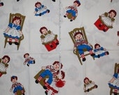 Vintage cotton raggedy ann/andy fabric
