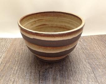 ceramic bowl, natural, brown, prep bowl, stoneware