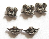 5 Pewter Angel Beads, Cherib, Item A123