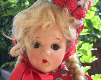 Vintage Large Effanbee Doll in Original Clothes