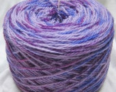 "Yarn 2ply Wool Sock Yarn ""Lilac Bouquet"" Hand Painted Fingering Weight"