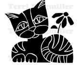 """Cat 6x6"""" Stencil"""