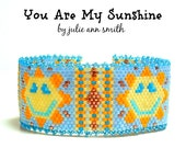 Julie Ann Smith Designs YOU ARE my SUNSHINE Flat Odd Count Peyote Bracelet Pattern