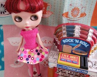 SUMMER SALE   Fifties Sweater Girl and  Circle Skirt Rock n Roll Jive Set - Pink