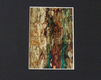 Alcohol ink painting, geological abstraction 7, ink art, splash art, acrylic painting