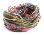 Cut Length Yarn Bundle, Autumn Fall, Creative Variety Pack, 3 x 10metre lengths, green, yellow, orange, fancy textured wool