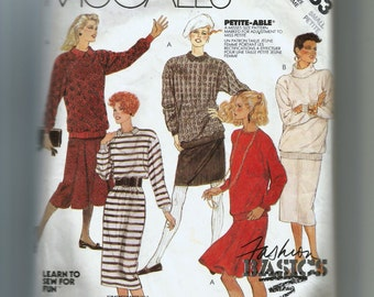 McCall's Misses' Dress, Top and Skirts for Stretch Knits Only Pattern 3253