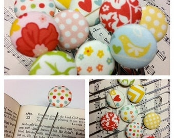 40% FLASH SALE- Button Bookmarks-The Bookworm's Dream-The Sweetest Thing