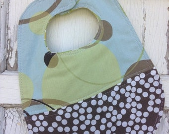 40% OFF FLASH SALE- Quilted Dot Bib-Wee Ones Bib Collection-Reversible